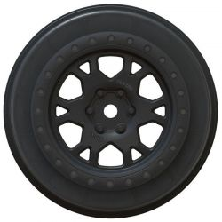 Impulse Black Wheels-SCTE4x4 SC10 4x4 ProTrac F/R