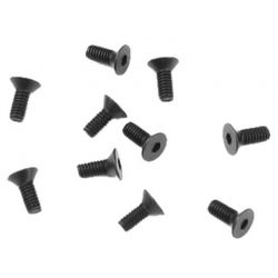 M2.5x6mm Flat Head Screws (black, 10pcs)