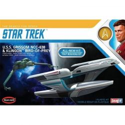 1/1000 Star Trek U.S.S. Grissom and Klingon Bird Of Prey Plastic
