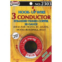 3 Conductor Wire Carded (28 Gauge) 20