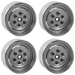 Vintage Yota 6 Lug Stamped Steel 1.55 Beadlock Wheels (Clear)
