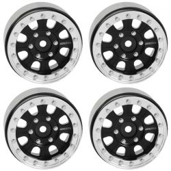 Raceline Monster 1.7 Beadlock Wheels Black/Silver
