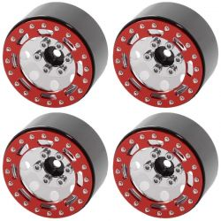 RC4WD TRO 1.7 inch Stamped Steel Beadlock Wheels Red/Chrm [Z-W0225]