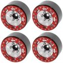TRO 1.7 inch Stamped Steel Beadlock Wheels Red/Chrm
