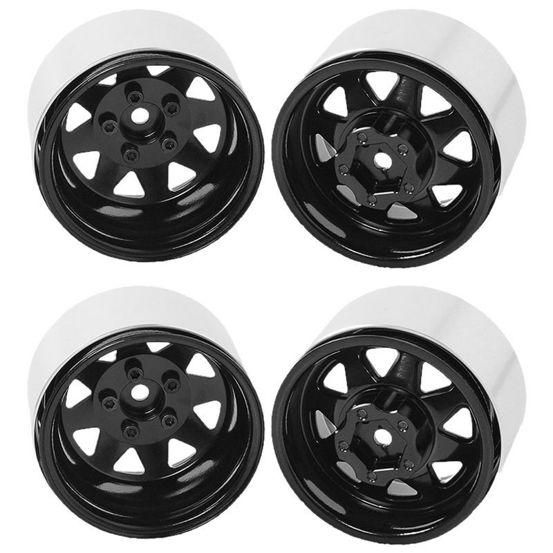 RC4WD 5-Lug Deep Dish Wagon 1.9 Beadlock Wheels Black [Z-W0243]