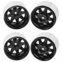 5-Lug Deep Dish Wagon 1.9 Beadlock Wheels Black