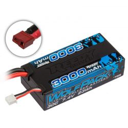 Reedy Wolfpack LiPo 3000mAh 30C 7.4V Shorty with T-plug