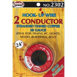 2 Conductor Wire Carded (28 Gauge) 24