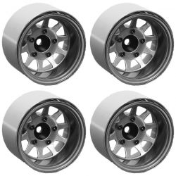 Deep Dish Wagon 1.55 Stamped Steel Beadlock Wheels (Clear)