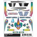 Heavy Metal Stick-On Pinewood Derby Decals