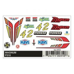 PineCar Magnum Dry Transfer Pinewood Derby Decals [P310]