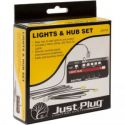 Just Plug Lights & Hub Set w/ White LEDs Model Trains