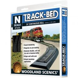 Track-Bed Roll (24ft roll) N Scale Trains