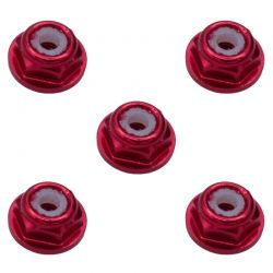 2mm Red Flanged Lock Nut