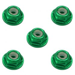 2mm Green Flanged Lock Nut