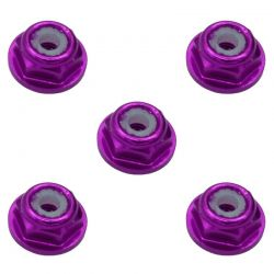 2mm Purple Flanged Lock Nut