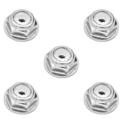 3mm Silver Flanged Lock Nut (5)