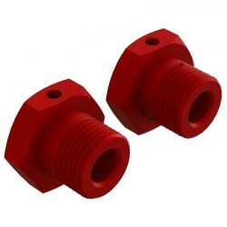 AR Aluminum Wheel Hex 17mm Red 2