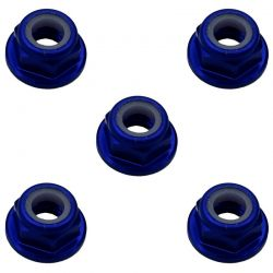 5mm Blue Flanged Lock Nut (5)