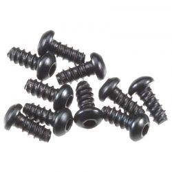 M2.6x6mm Hex Socket Tapping Button Head (Black) (10pcs)