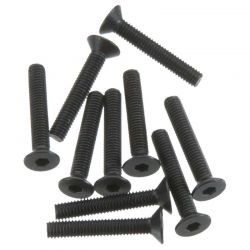 M3x18mm Hex Socket Flat Head (Black) (10pcs)
