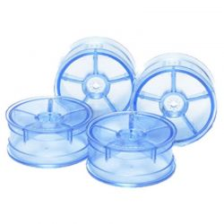 24MM DISH WHEELS-4 pieces Clear Blue/+0