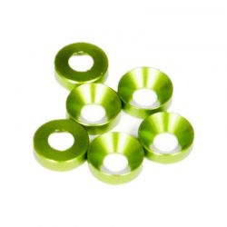 Cone Washer 3x6.9x2mm Green 6