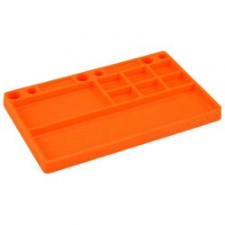 Parts Tray Orange Rubber Material