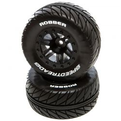 SpeedTreads Robber SC Mounted Black: Traxxas SL Front 2