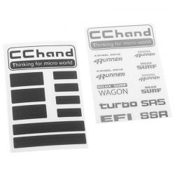 Metal Logo Decal Sheet for 1985 Toyota 4Runner Hard Body Complet