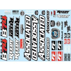 RC10B74 Decal Sheet