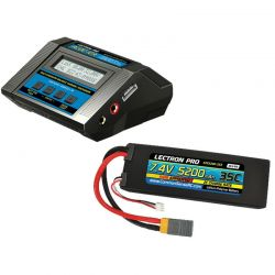 ACDC-10A Charger + 1 x 7.4V 5200mah 35C w/ XT60 + Gray Adapter