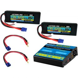 ACDC-DUO Charger + 2 x 7.4V 5200mah 35C w/ EC3 Connector