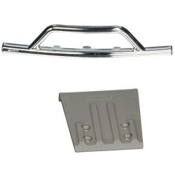 Front Bumper & Skid Plate Chrome/Gray: Slash