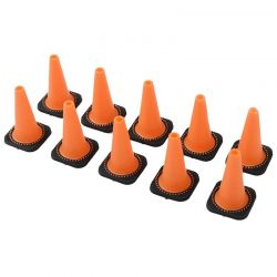 1/10 Remote Control Hobby Size Traffic Cones Pack of 10