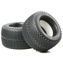 RC Oval Spike Tires TGM-04 - 2 pieces w/Inner Sponges