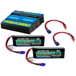 ACDC-DUO Charger + 2 x 11.1V 5200mah 50C w/ EC3 Connector