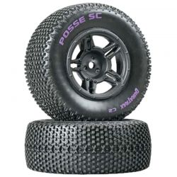 Posse SC Tire C2 pre-mounted Black Slash Blitz Scrt10 (2)