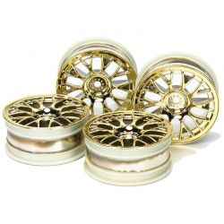 Med Narrow Mesh Touring Car Wheels 4 Pieces 12mm Hex