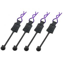 BODY CLIP RETAINERS 1/10 SCALE (4) purple