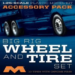 1/25 Semi Wheels/Tires (10 pk)