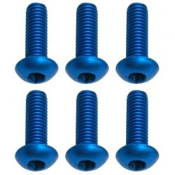 M3x10mm Blue Aluminum BHCS Button Head Cap Screws (6)