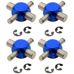Titanium u-joint set blue