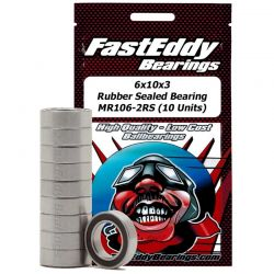 6x10x3 Rubber Sealed Bearing MR106-2RS 10 Units