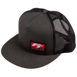 Factory Team Logo Trucker Hat Flat Bill