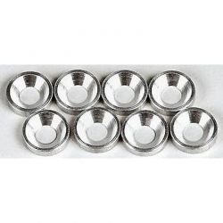 Silver Aluminum 3mm Countersunk Washer (8)