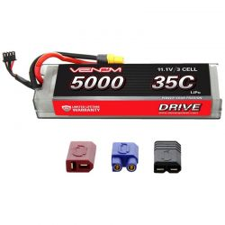 DRIVE LiPo 3S 11.1V 5000mAh 35C Hard Case Battery Univ Plug