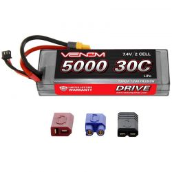 DRIVE LiPo 2S 7.4V 5000mAh 90C ROAR Hard Case Battery - Univ Plug 2.0