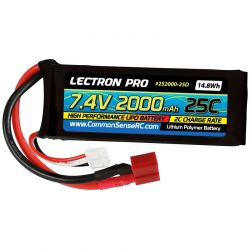 7.4v 2000mah 25c Lipo Battery with Deans-Type Connector