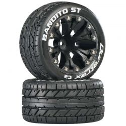 Bandito ST 2.8 inch Truck Mounted 1/2 inch Offset C2 Black (2)